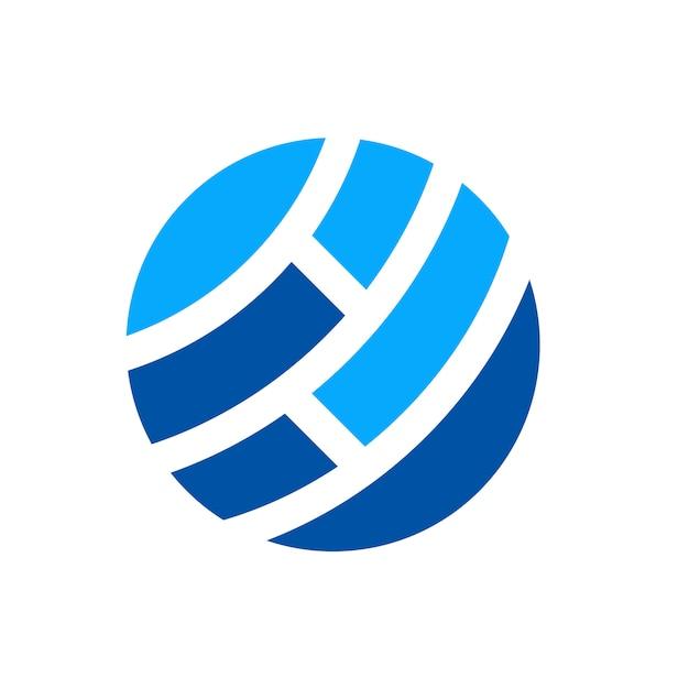 Logo du réseau mondial Vecteur Premium
