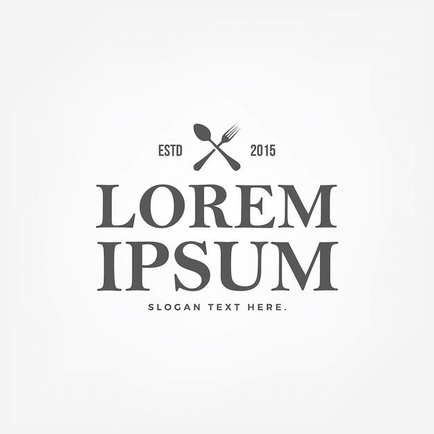Logo du restaurant vintage Vecteur Premium