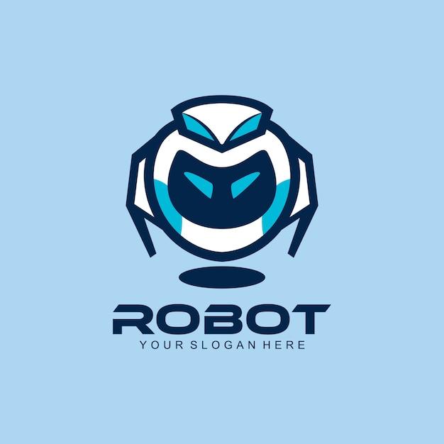 Logo du robot Vecteur Premium