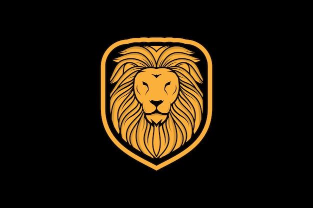 Logo du roi lion esport Vecteur Premium