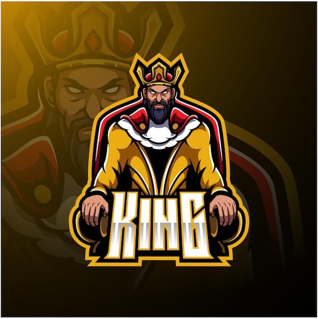 Logo du roi Vecteur Premium