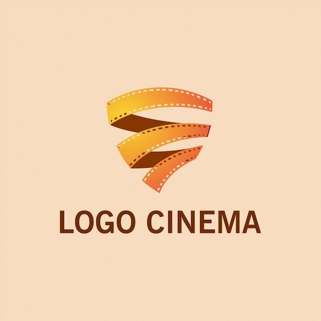 Logo du rouleau de film Vecteur Premium