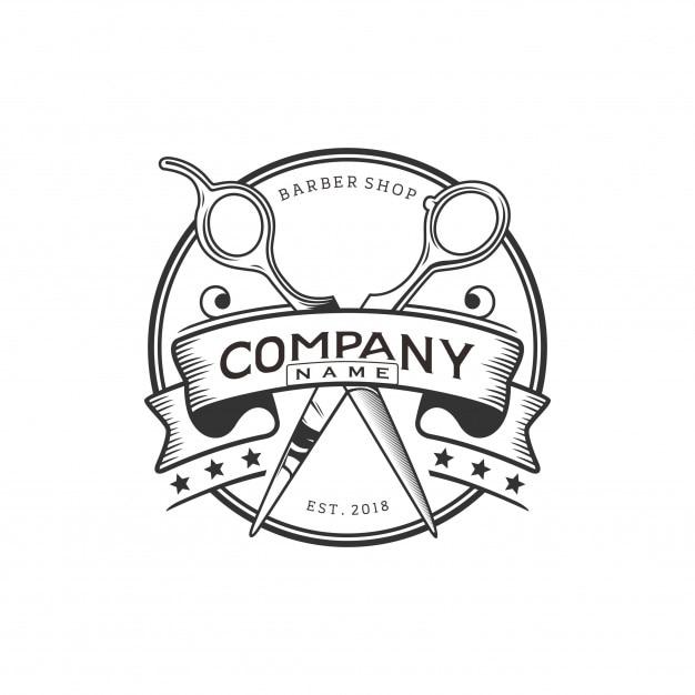 Logo du salon de coiffure Vecteur Premium