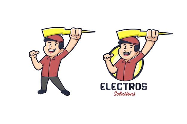 Logo Du Service D'électricité Vecteur Premium