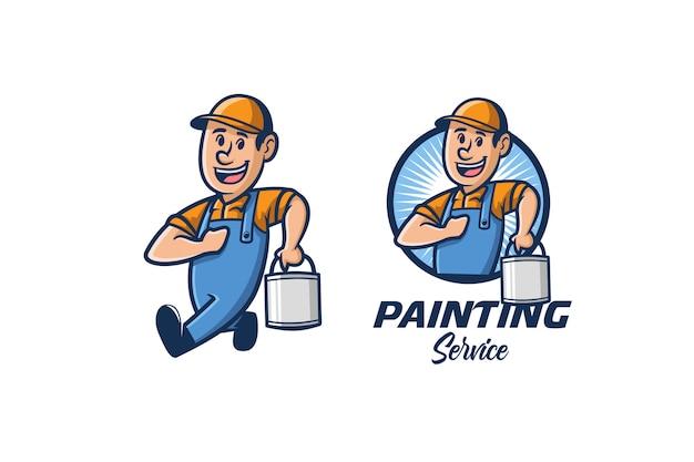 Logo Du Service De Peinture Vecteur Premium
