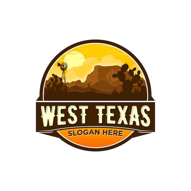 Logo du texas occidental Vecteur Premium