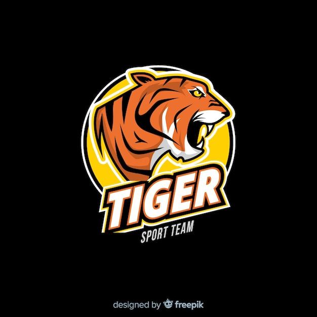 Logo du tigre Vecteur gratuit