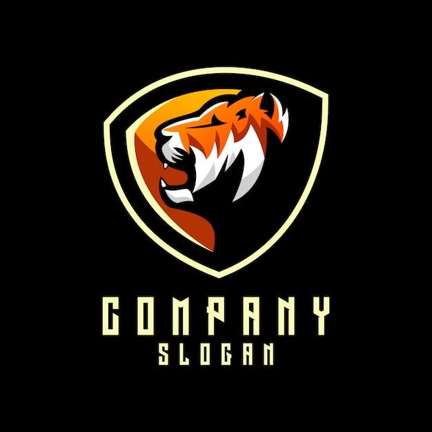 Logo du tigre Vecteur Premium