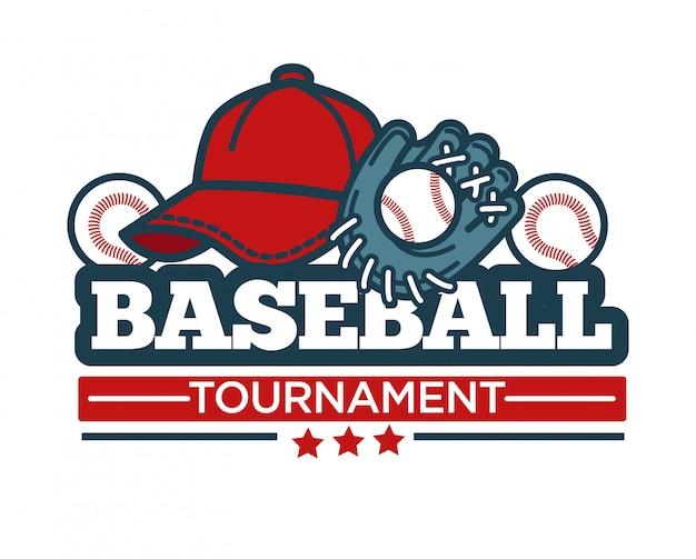 Logo du tournoi de baseball Vecteur Premium