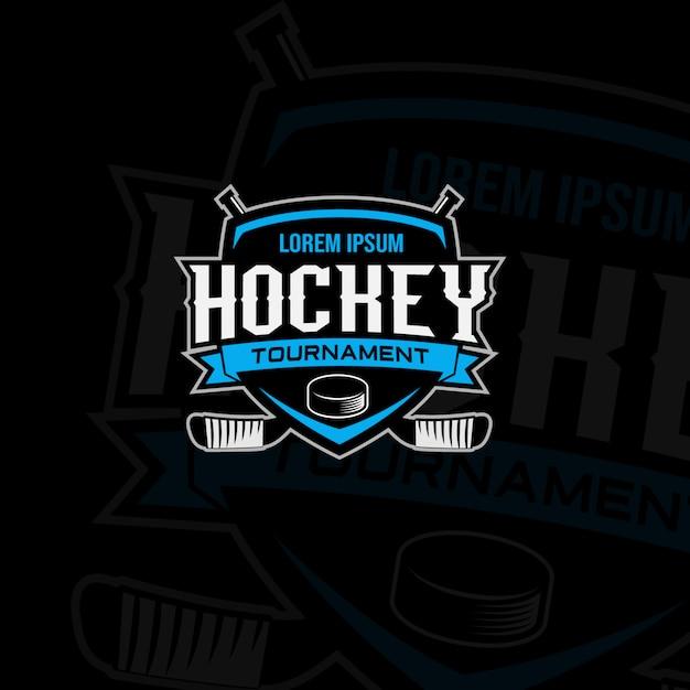 Logo Du Tournoi De Hockey Vecteur Premium