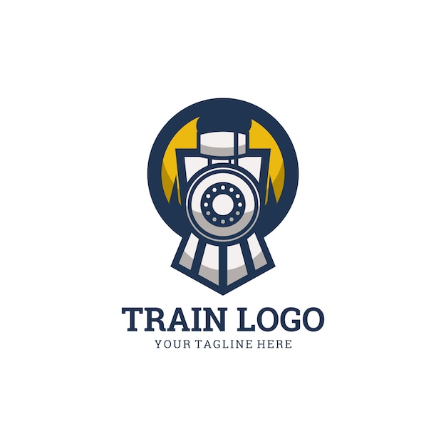 Logo du train Vecteur Premium