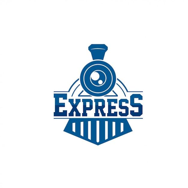Logo du train Vecteur Premium
