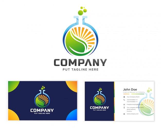 Logo du travail nature eco science Vecteur Premium