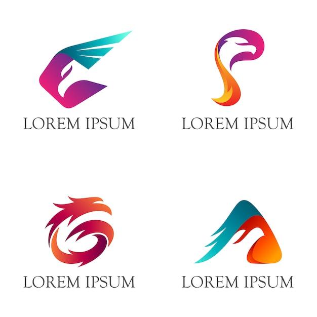 Logo eagle avec initial g Vecteur Premium