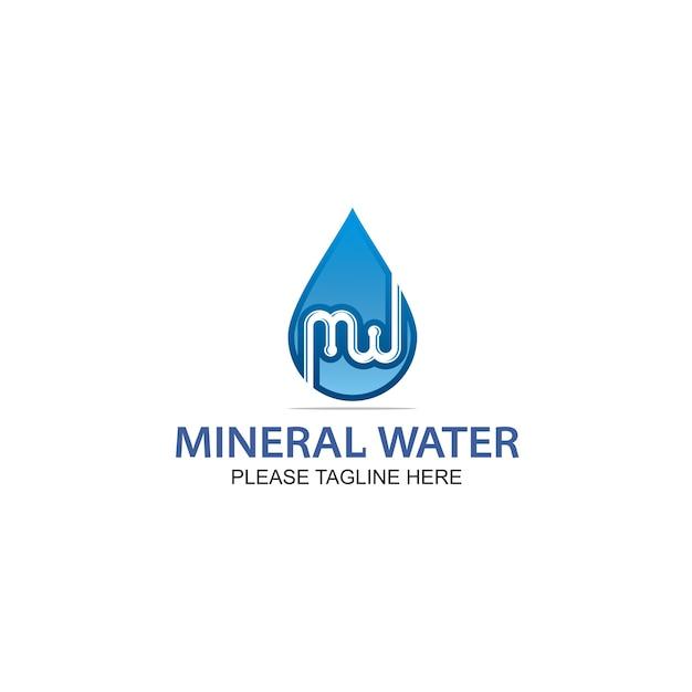 Logo de l'eau minérale Vecteur Premium