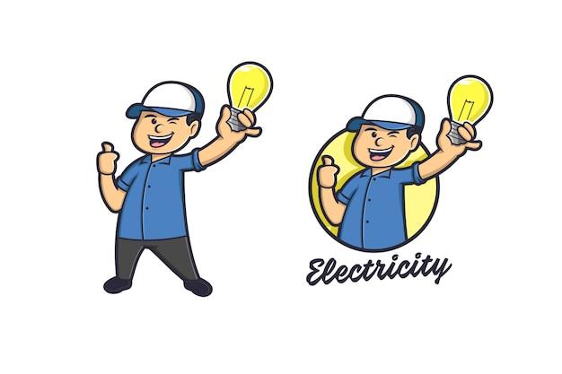 Logo électricité Lumière Et Lampe Vecteur Premium
