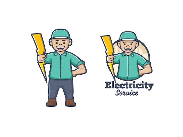 Logo De L'électricité Vecteur Premium