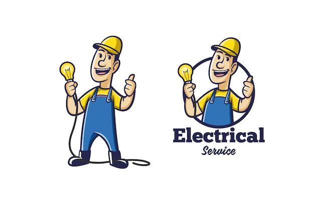 Logo électrique Rétro Vecteur Premium