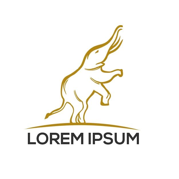 Logo D'éléphant Moderne Vecteur Premium