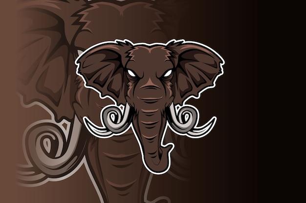 Logo D'éléphant Pour Club De Sport Ou équipe. Logo De La Mascotte Animale. Vecteur Premium