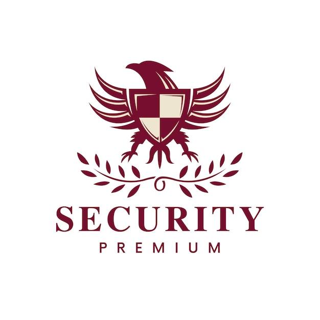 Logo Emblème De L'aigle Royal Vecteur Premium