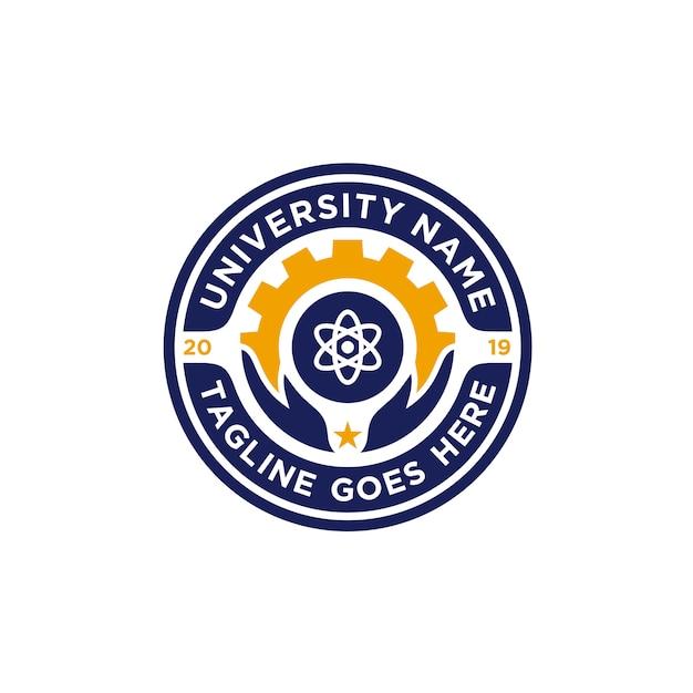 Logo de l'emblème de l'école Vecteur Premium