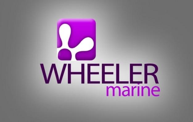 Logo engrenage roues marine Vecteur gratuit