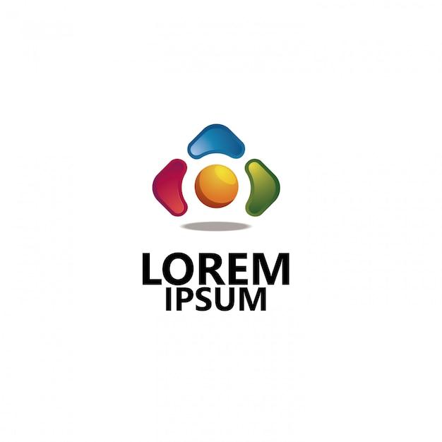 Logo de l'entreprise 3d Vecteur Premium