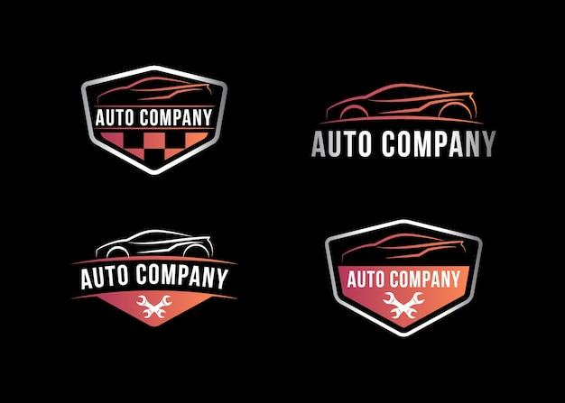 Logo de l'entreprise automobile, illustration vectorielle Vecteur Premium