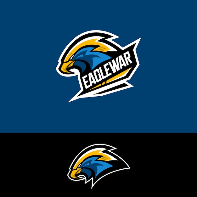 Logo de l'équipe de e-sport avec aigle Vecteur Premium