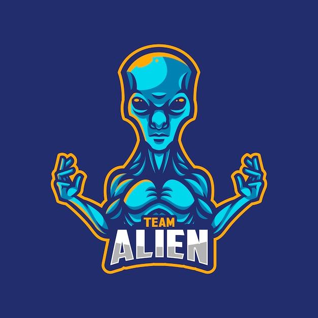 Logo ou équipe extraterrestre Vecteur Premium