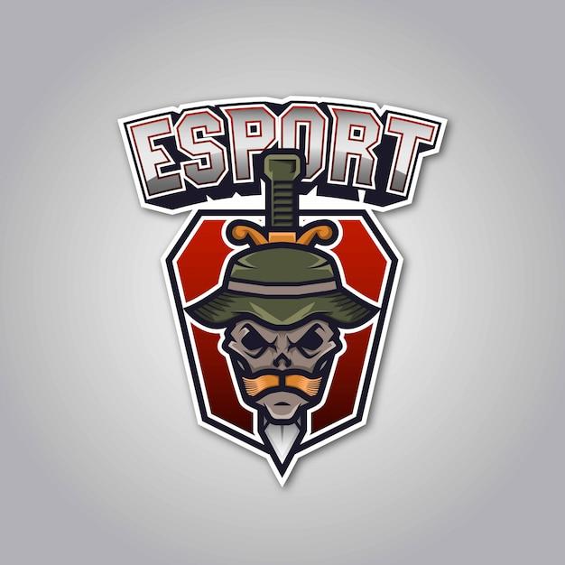 Logo de l'équipe de sport de l'armée Vecteur Premium