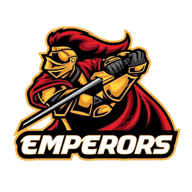 Logo Esport Chevalier Empereurs Vecteur Premium