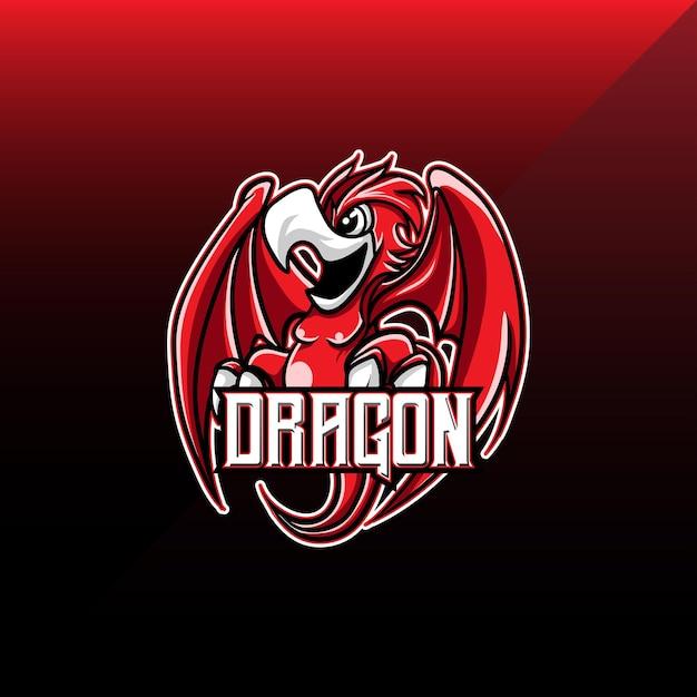 Logo Esport Dragon Personnage Vecteur Premium