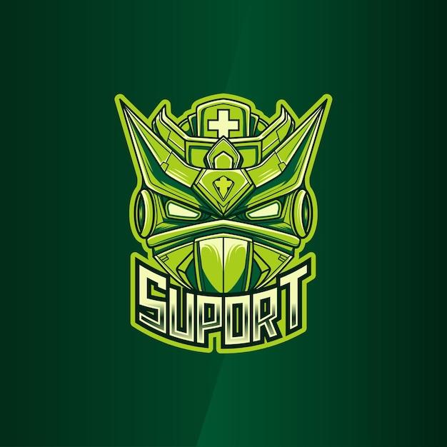 Logo Esport Avec Icône De Personnage Illustration Robot Suport Vecteur Premium