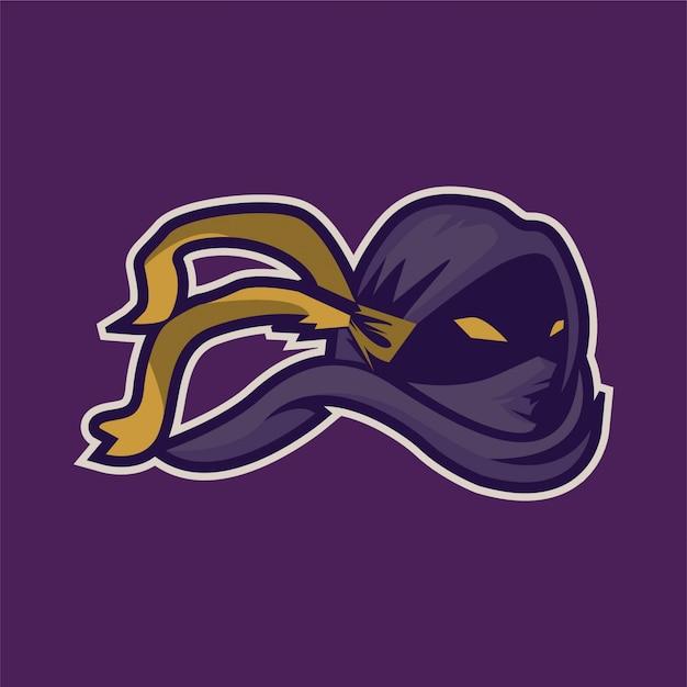 Logo Esport De Jeu De Mascotte Ninja Vecteur Premium
