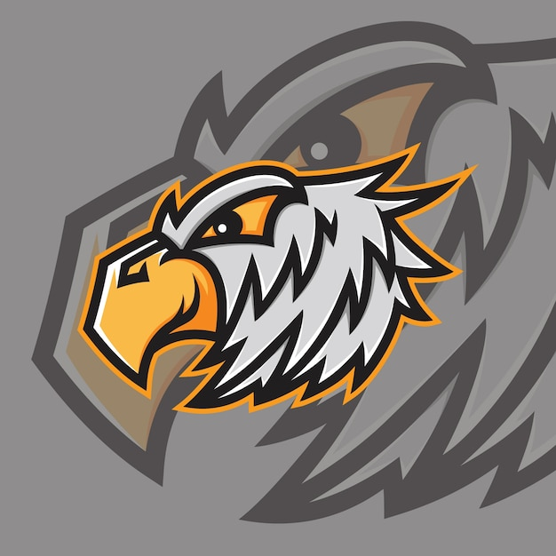 Logo Esport Mascotte Eagle Vecteur Premium