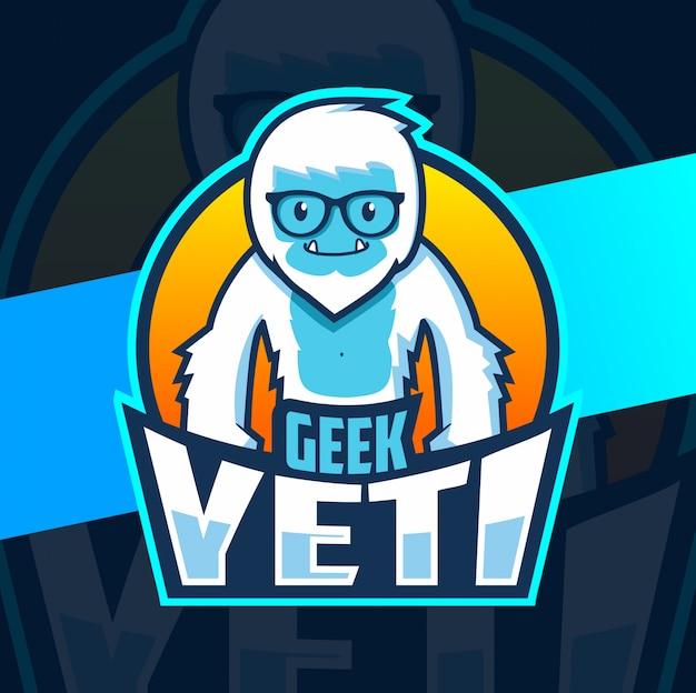 Logo Esport De La Mascotte Geek Yeti Vecteur Premium