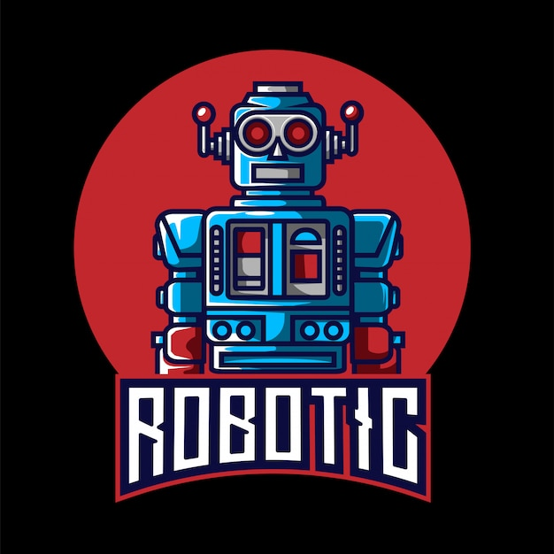 Logo Esport Robotique Vecteur Premium