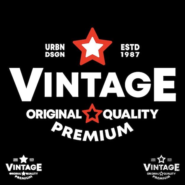 Logo de l'étiquette vintage Vecteur Premium