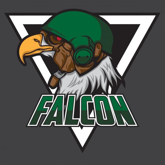 Logo Falcon Esport Vecteur Premium
