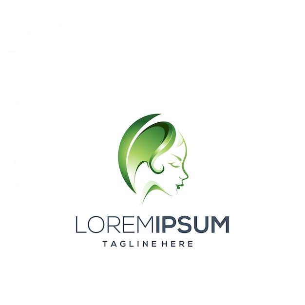 Logo Femme Vecteur Premium