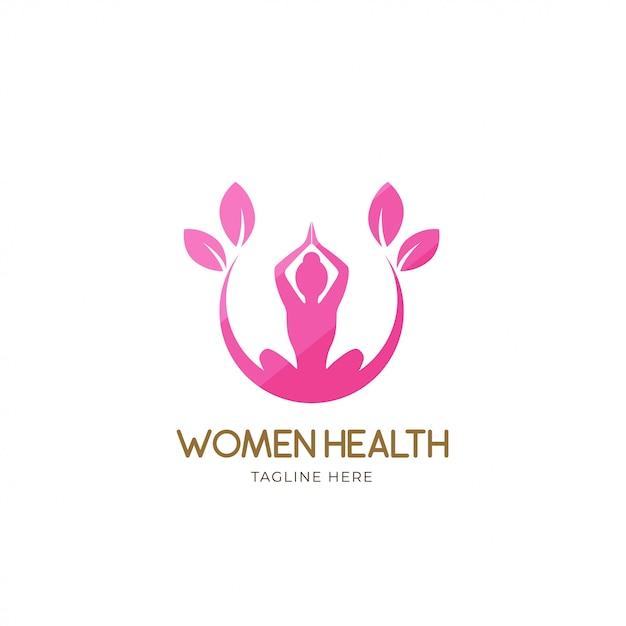 Logo de femmes en bonne santé Vecteur Premium