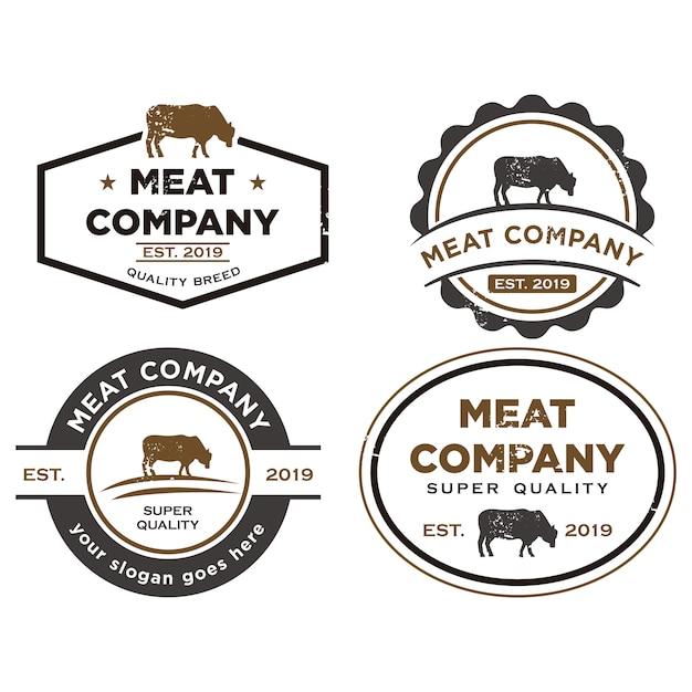 Logo De Ferme D'élevage Vecteur Premium