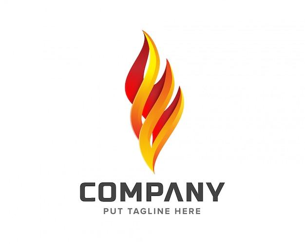Logo de feu créatif Vecteur Premium