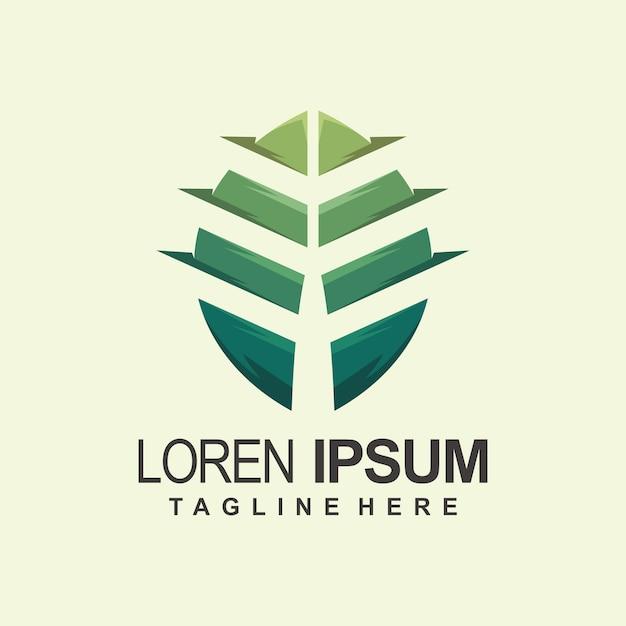 Logo de la feuille Vecteur Premium