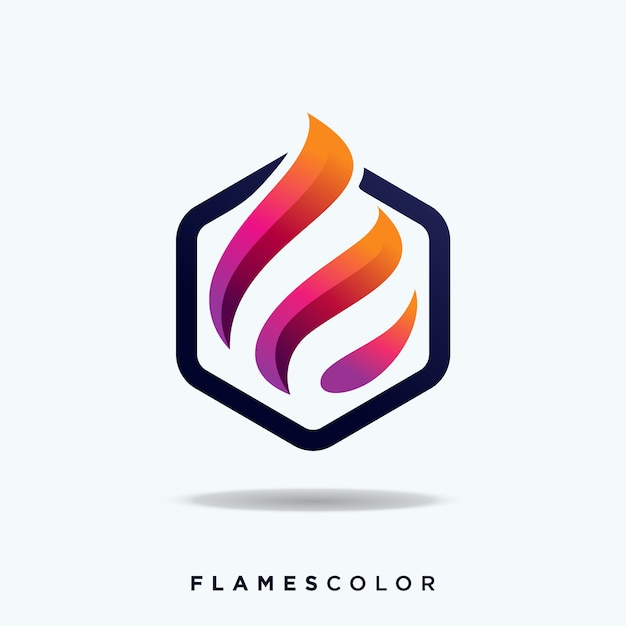 Logo flamme Vecteur Premium