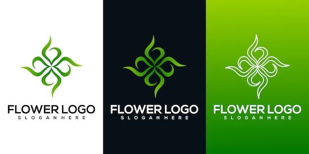 Logo De Fleur Abstraite Vecteur Premium
