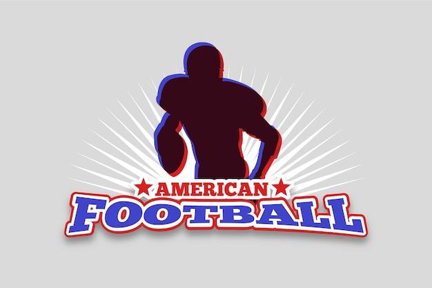 Logo De Football Américain Rétro Vecteur gratuit