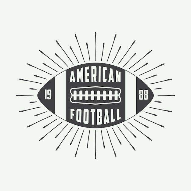 Logo football américain Vecteur Premium
